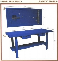 Estanterias metalicas mecamam productos for Banco trabajo taller